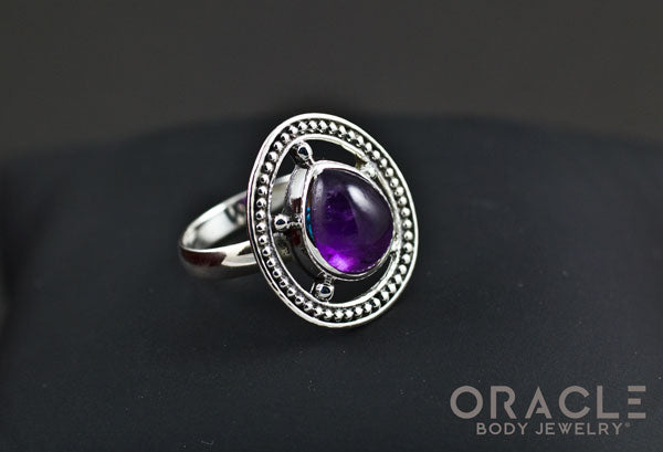 Sterling Silver ring with Amethyst Size 7