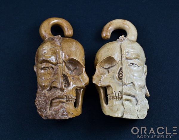 0g (8mm) Fossilized Mammoth Ivory Half Man/Skull