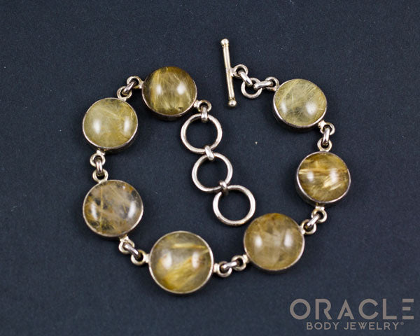 Sterling Silver Rutilated Quartz Bracelet