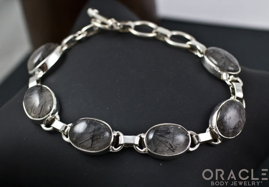 Sterling Silver Tourmalated Quartz Bracelet