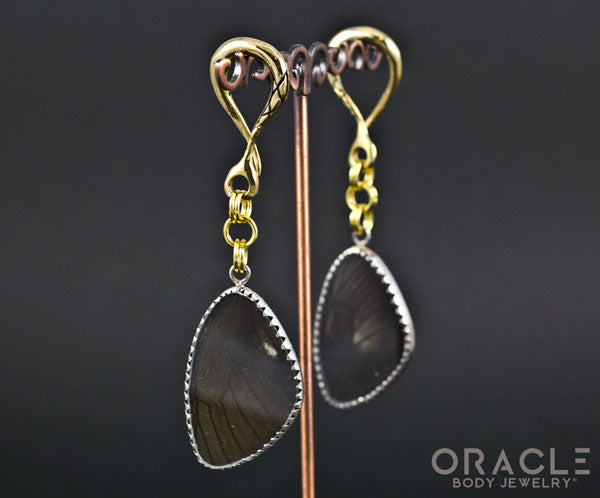 Crossover with Silver Plated Butterfly Wings