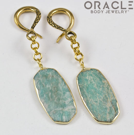 Crossover With Gold Plated Amazonite