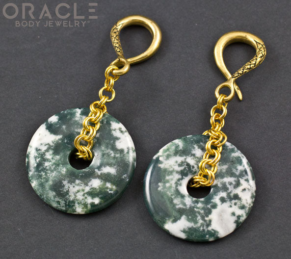 Crossover With Green Tree Agate Discs
