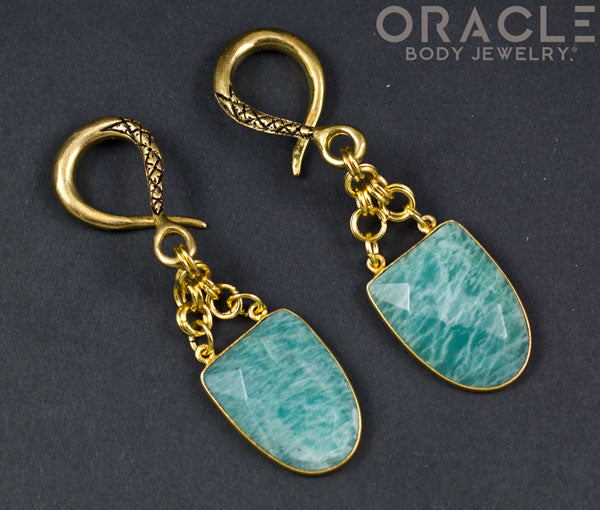 Crossover With Gold Plated Faceted Amazonite