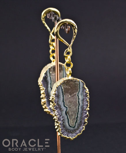 Crossover with 24k Gold Plated Stalactite Slices