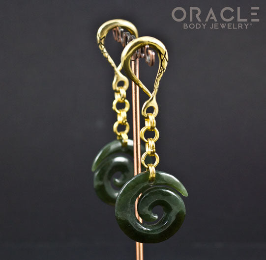 Crossover with Carved Jade Spirals