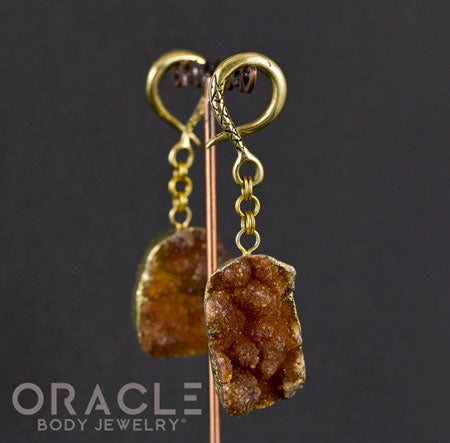 Crossover With Gold Plated Druzy Agate