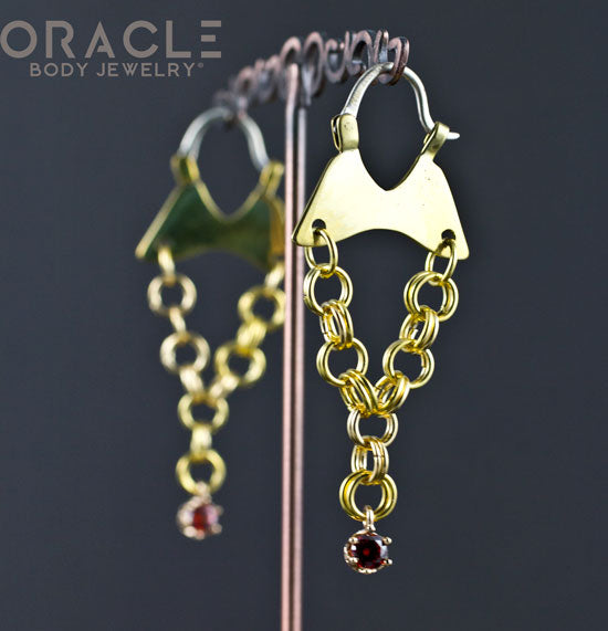Mini Dangles with Synthetic Ruby