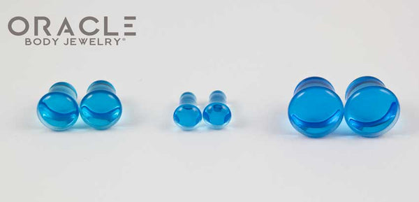 Sapphire Blue Quartz Single Flare Plugs