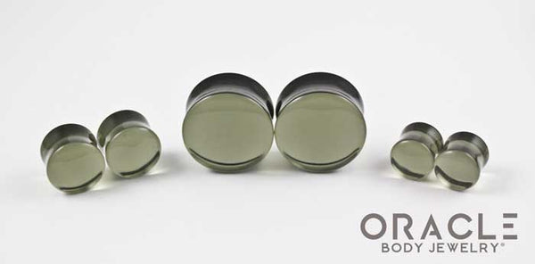 Grey Quartz Double Flare Plugs