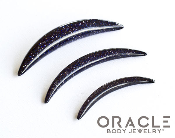 Blue Goldstone Septum Tusk