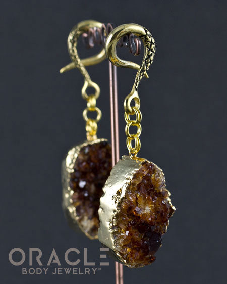 Crossover With Gold Plated Citrine