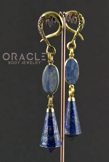 Crossover With Gold Plated Kyanite and Lapis