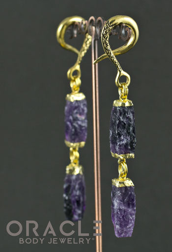 Crossovers With Gold Plated Double Amethyst