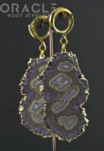 Crossover With Gold Plated Stalactite Slices