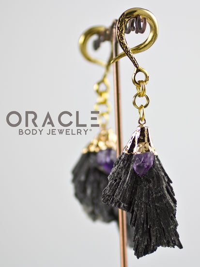 Crossover With Gold Plated Kyanite and Amethyst