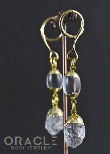 Crossover With Gold Plated Quartz Dangles