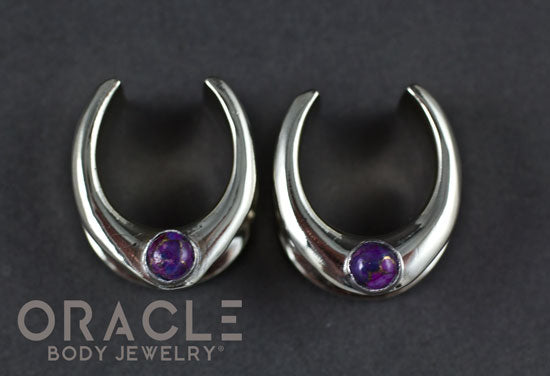 "3/4"" (19mm) White Brass Saddles with Copper Purple Turquoise"