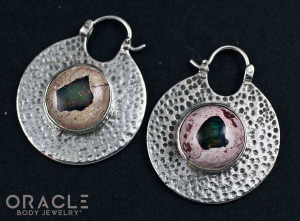 Solid Silver Kiki with Mexican Matrix Opals