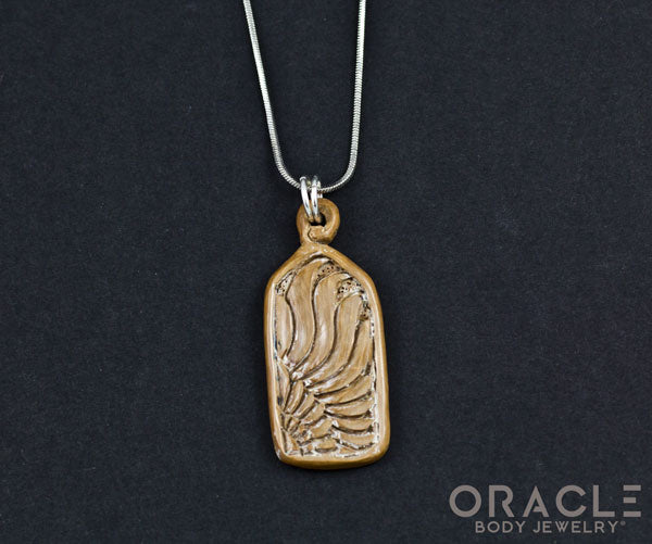 Fossilized Mammoth Ivory Pendant with Chain