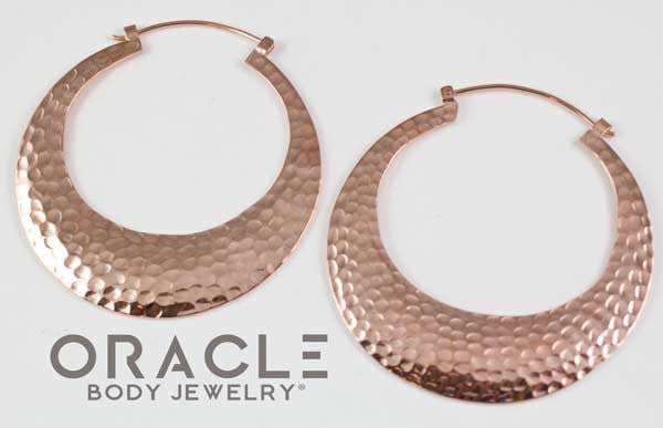 Brooklyn in Hammered Rose Gold Plate