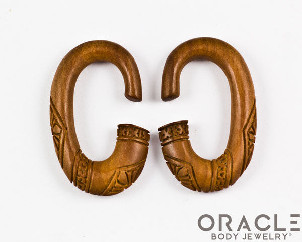Carved Oval Hoops