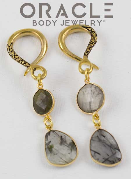 Crossover with Tourmalated Quartz Double Dangles