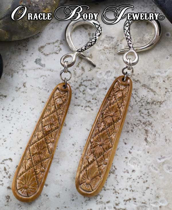 Silver Crossover with Fossilized Mammoth Ivory Dangle