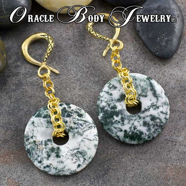 Crossover with Green Tree Agate Donut(CEL320)
