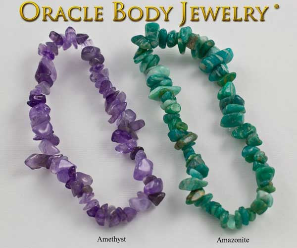 Amethyst and Amazonite Chip Bracelet