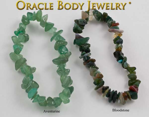 Aventurine and Bloodstone Chip Bracelet