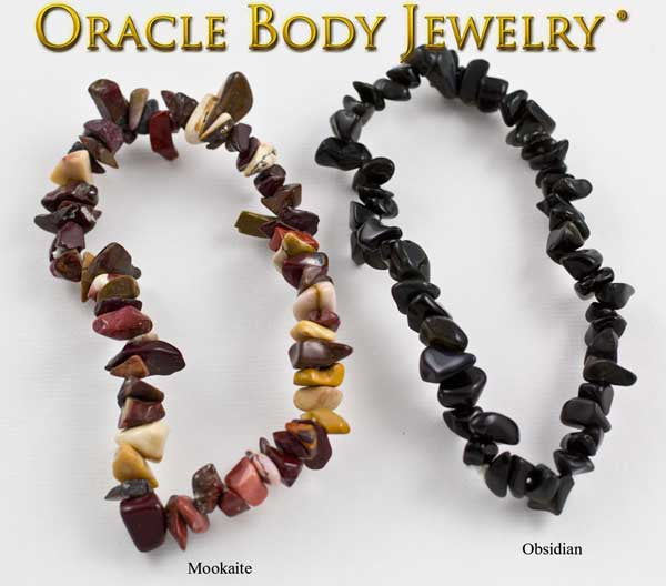 Mookaite and Obsidian Chip Bracelet