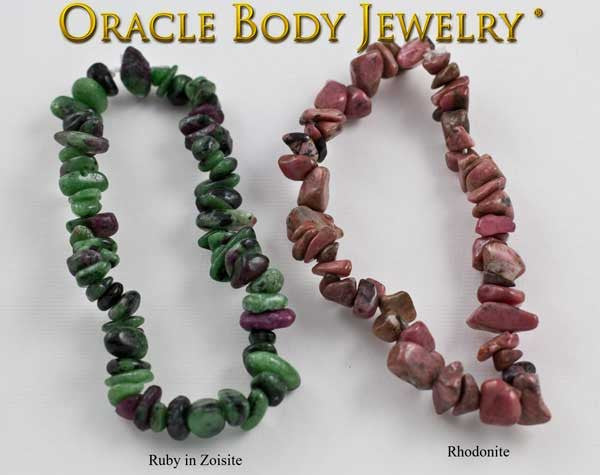 Ruby in Zoisite and Rhodonite Chip Bracelet