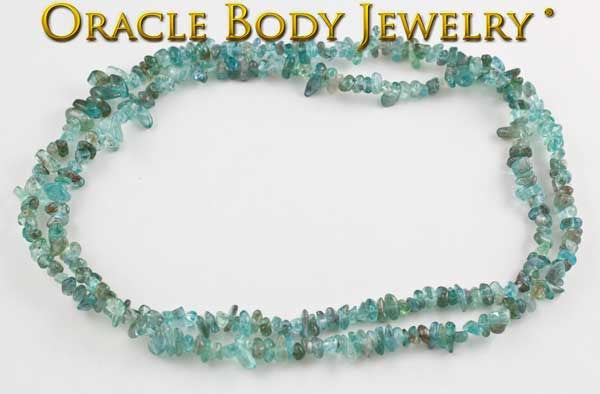 Aquamarine Chip Necklace