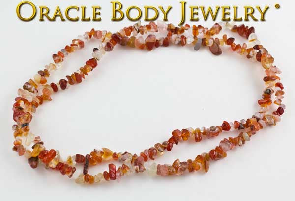 Carnelian Chip Necklace