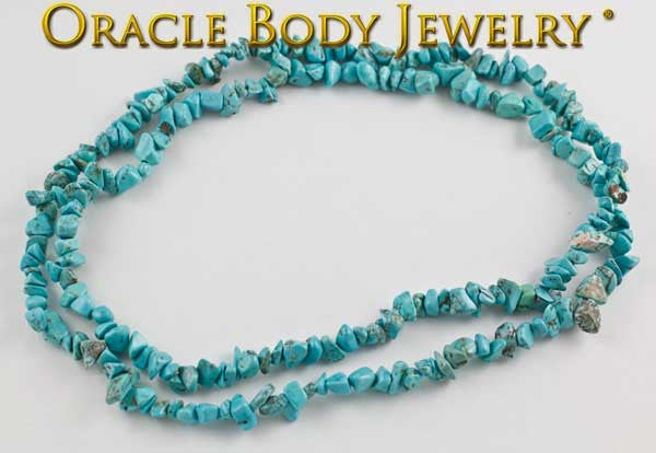 Natural Turquoise Chip Necklace