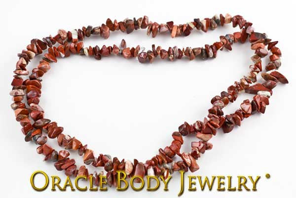 Red Brecciated Jasper Chip Necklace