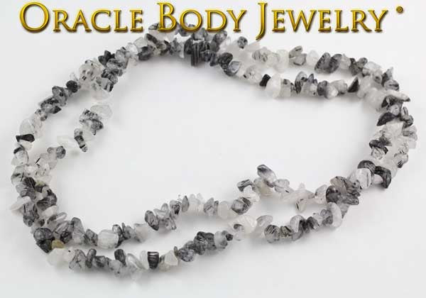 Tourmalated Quartz Chip Necklace