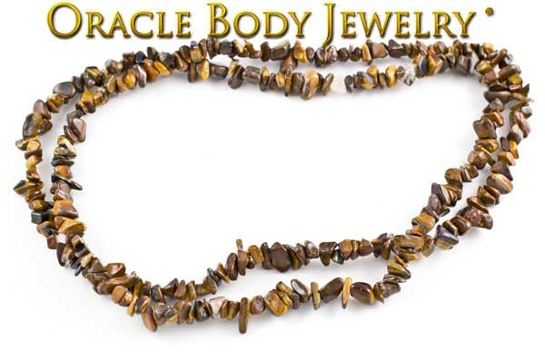 Yellow Tiger Eye Chip Necklace
