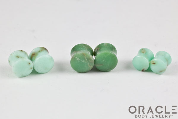 Chrysoprase Double Flare Plugs