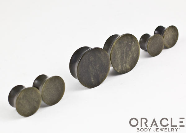 Golden Obsidian Mayan Style Flare Plugs