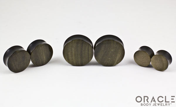 Golden Obsidian Double Flare Plugs