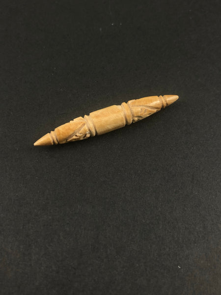 5.5mm Fossil Mammoth Carved Septum Spike