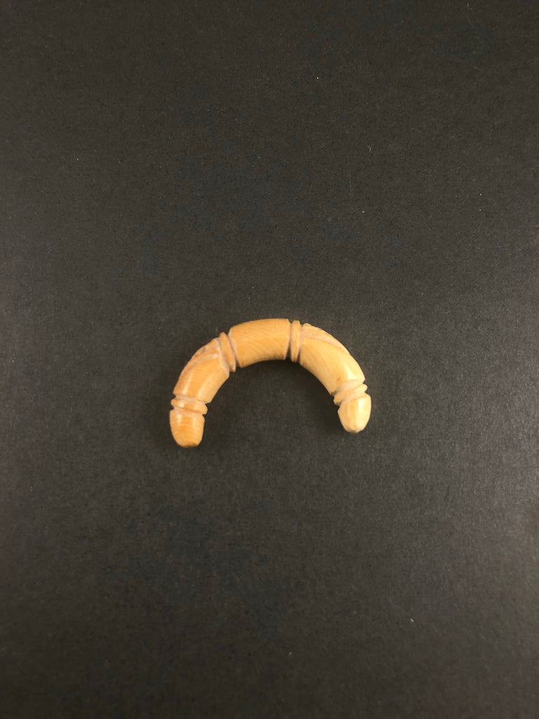 7mm Fossilized Mammoth Carved Septum Tusk