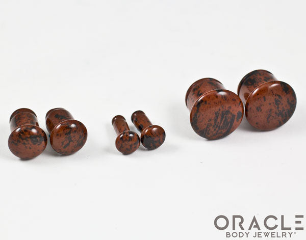 Mahogany Obsidian Single Flare Plugs