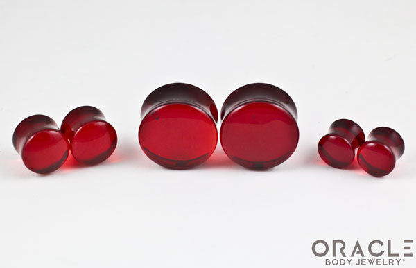 Red Quartz Double Flare Plugs