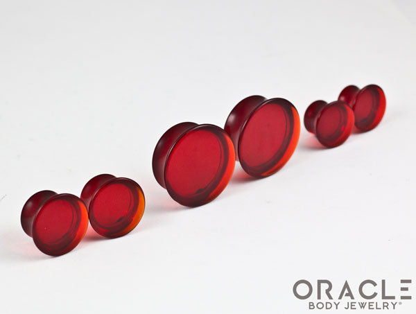 Red Quartz Mayan Style Flare Plugs