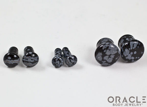 Snowflake Obsidian Single Flare Plugs