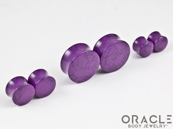 Synthetic Sugalite Double Flare Plugs