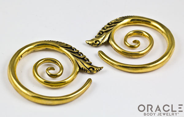 Large Temple Spiral Brass Weights